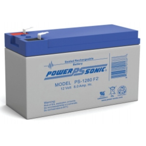 Power Sonic PS-1280F2 12V 12Ah General Purpose VRLA Battery with F2 Terminals