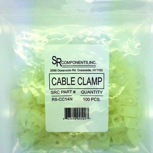 """1/4"""" Nylon Cable Clamp/100"""