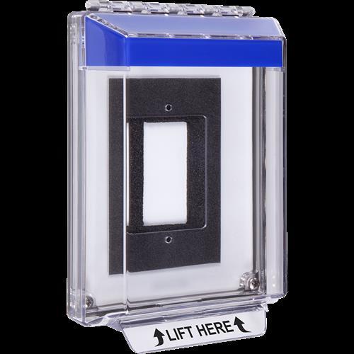 Low Profile Blue Flush Mnt Enclosed Universal Stpr