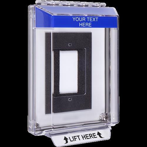 Safety Technology Flat Universal Stopper-Flush Mt Encl W/Gasket-Blue