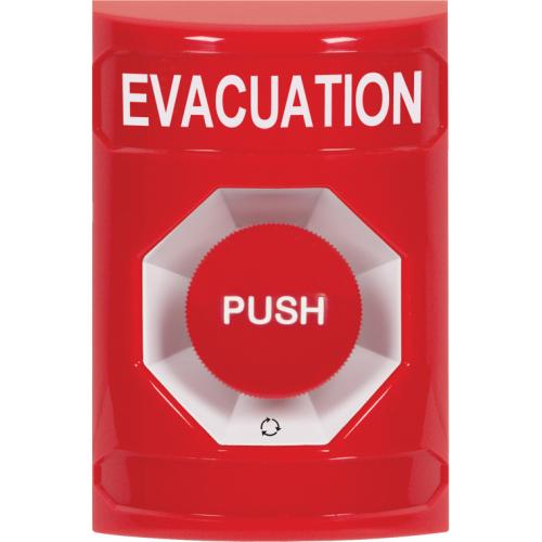 Safety Technology Red Stppr Sta, No Cvr, Push & Ttr