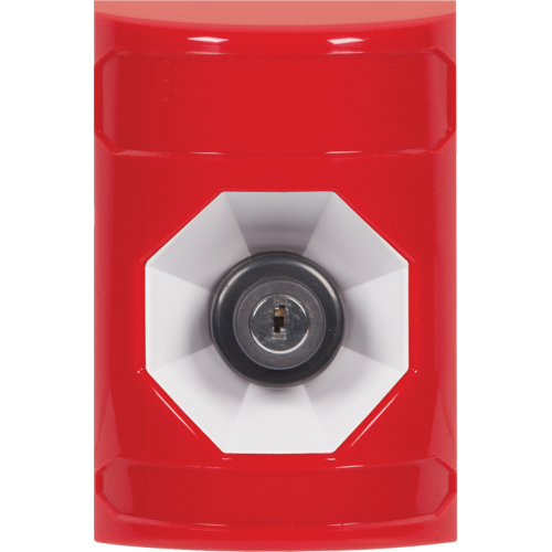 Safety Technology Red Key To Activate Stopper Station NO Cover Emerg