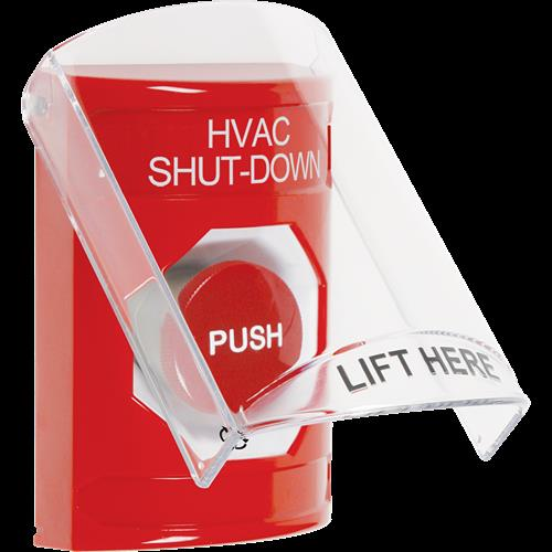 Safety Technology Red Turn To Reset Stopper Station With Shield 'hva