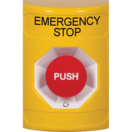 Yllw Stppr Sta, No Cvr, Push & Turn-To-Reset