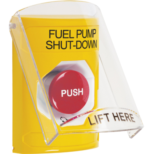 Yellow Stopper Station, Sti-6517 Shield Cover, Pus
