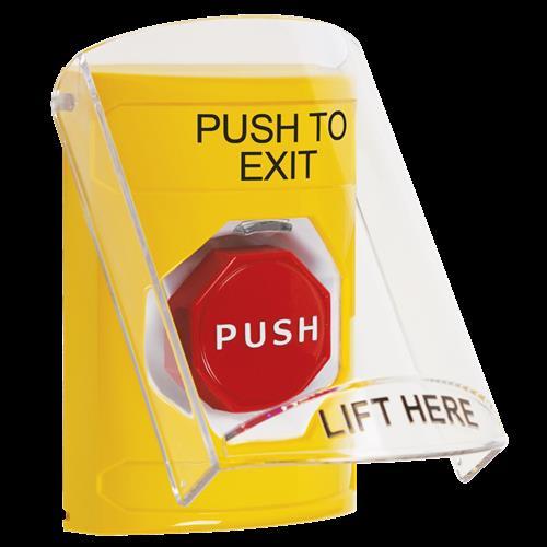Ylw Illum Mnmtry Ss W/Shld Push To Exit - English