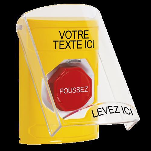 Ylw Mnmrty Ss W/Shield-Custom Text In French