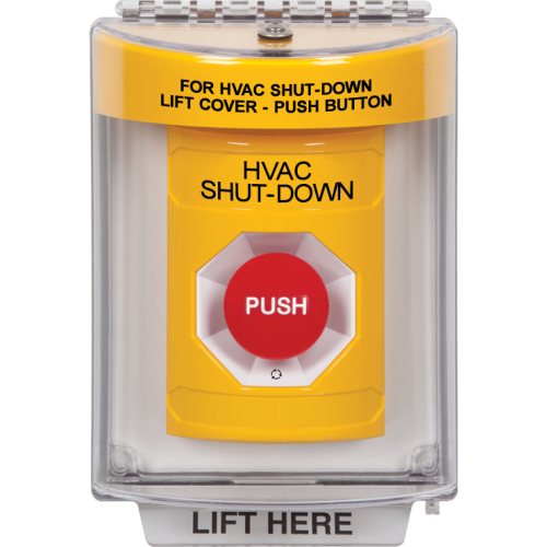 Safety Technology Yellow Stopper Station, Universal Cover, NO Horn,