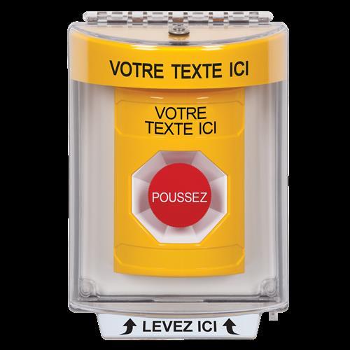 Yellow Stppr St Uni Cvr NO Hrn Flsh Mnt-French Lbl