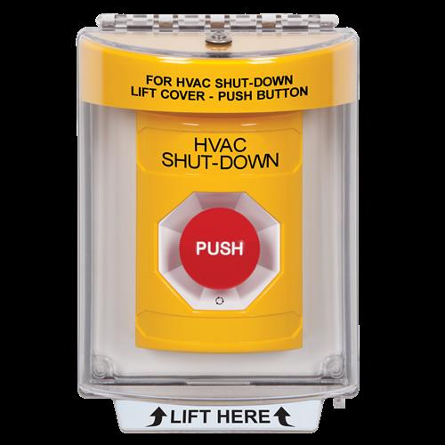 Safety Technology Yellow Turn To Reset Stopper Station With Flush Mo