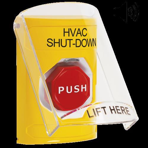 Ylw Illum'd Mntry Ss W/Shield & Sounder-Shutdown