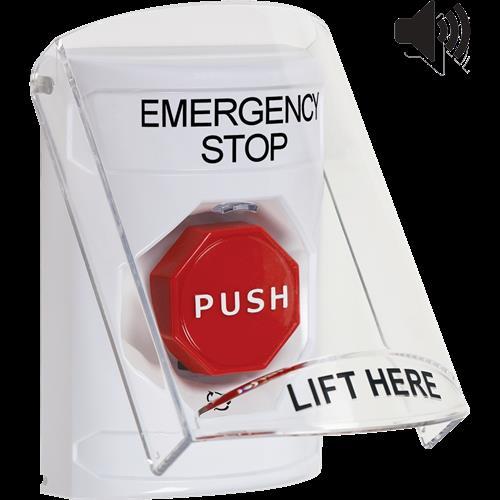 Safety Technology Wht Push Btn Shell, 6517a Cvr W/Sndr Urn To Reset