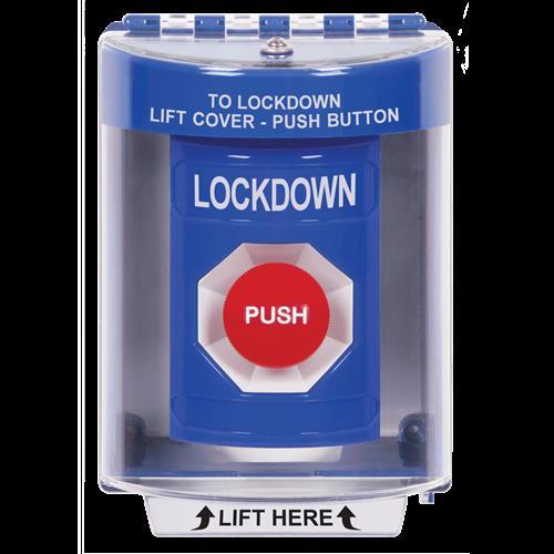 Bl Bttn, 13210 Cvr, Momentary Switch-Lockdown In Eng
