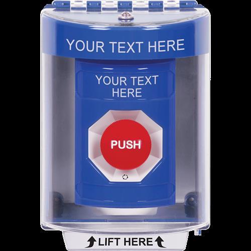 Safety Technology Blue Ss, Sti-13220 Cvr, Turn To Reset, Custom Labe