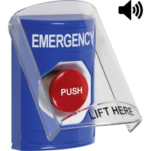 Blue Stopper Station, Sti-6517a Shield With Sound,