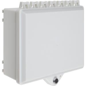 Safety Technology Nema 4x Prot Cabinet, Opaque Wht, W/Bak Plt & Key Lc