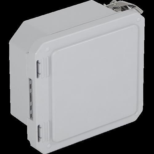 "Safety Technology Fiberglass Enclosure, Opaque, 6"" X 6"" X 4"""