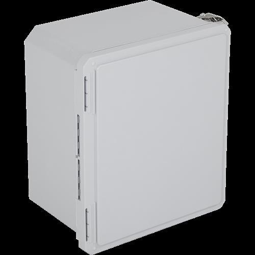 "Safety Technology Enclosure Fiberglass, 14"" X 12"" X 8"", Opaque"