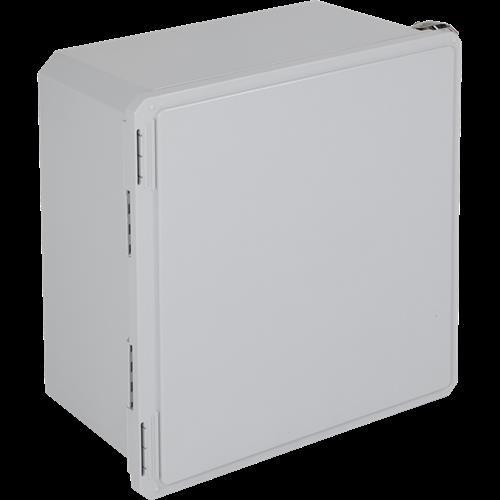 "Safety Technology Fiberglass Enclosure, Opaque, 18"" X 16"" X 10"""