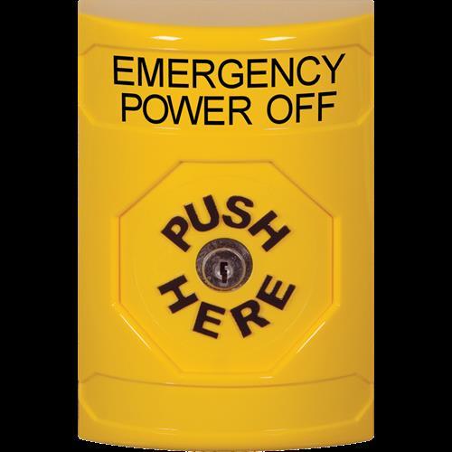 Yellow Key To Reset Stpr St W/No Cvr Emergy Pwr