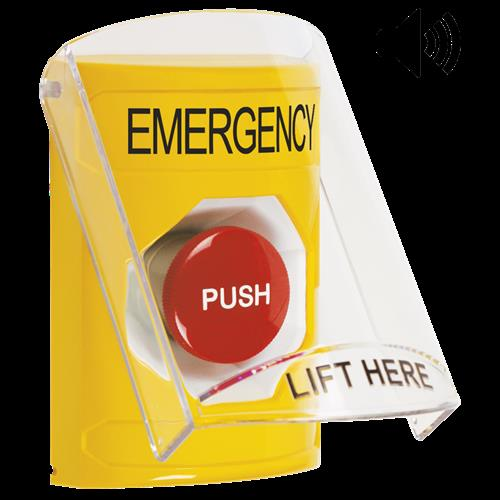 Ylw Momentaary Stpr St W/Shld & Sounder-Emergency