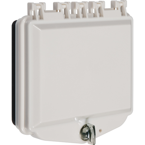 Safety Technology Opaque White Polycarbonate Enclosure W/Open Back F