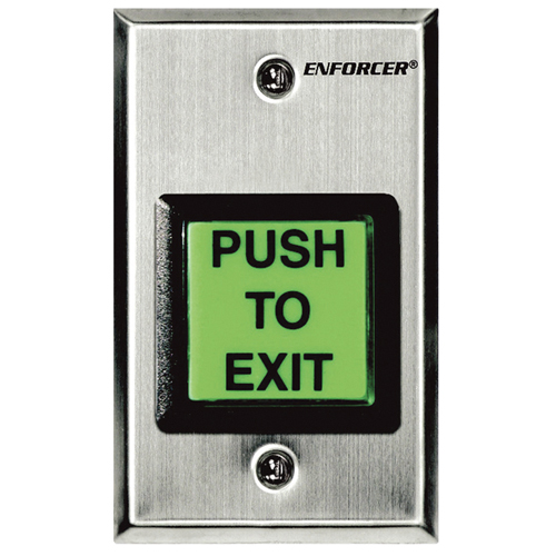 Enforcer Illuminated Push-to-Exit Plates with Built-In Timers