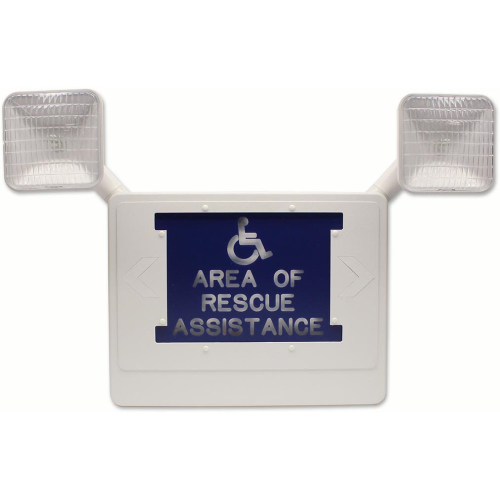Lighted Area Of Rescue Assistance Sign, 1-Sided