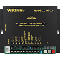Viking Electronics Master Clock / Network Clock Controlled Tones or Messages Over a Paging System