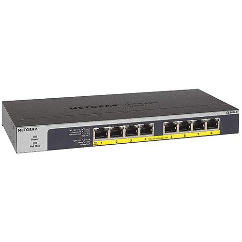 Netgear 8-Port PoE/PoE+ Gigabit Ethernet Unmanaged Switch (GS108LP)