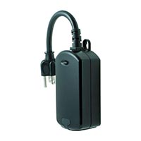 Honeywell Home Plug-in Outdoor Switch, Black