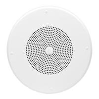 Valcom V-1020C 8 in. Ceiling Speaker with Removable Volume Control, Semi-Gloss White